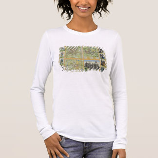 Maps of York, Shrewsbury, Lancaster, and Richmond, Long Sleeve T-Shirt