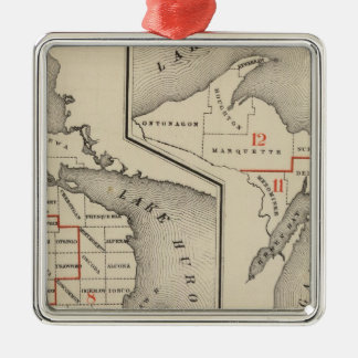 Maps showing the congressional districts christmas ornament