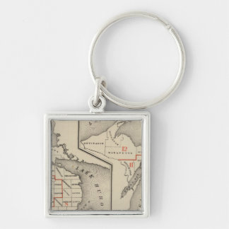 Maps showing the congressional districts Silver-Colored square key ring
