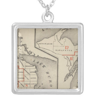 Maps showing the congressional districts silver plated necklace