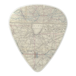 Maps showing the Indiana Acetal Guitar Pick