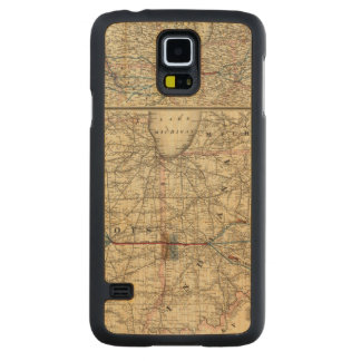 Maps showing the Indiana Carved Maple Galaxy S5 Case