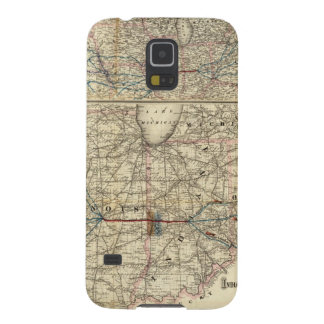 Maps showing the Indiana Galaxy S5 Cover