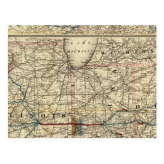 Maps showing the Indiana Postcard