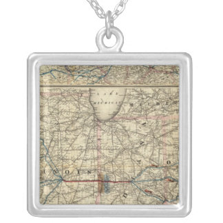 Maps showing the Indiana Silver Plated Necklace