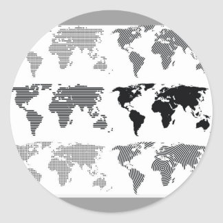 Maps world continents styles designs patterns stickers