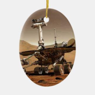 Mar rover space design christmas ornament