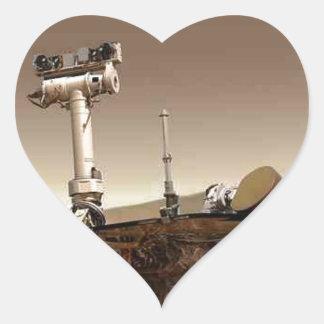 Mar rover space design heart sticker