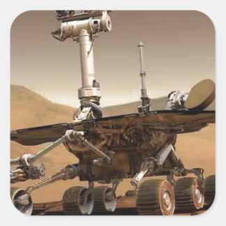 Mar rover space design square sticker