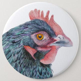 Maran Hen Chicken Bird Watercolor Farm Yard bird 6 Cm Round Badge