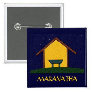 MARANATHA! 15 CM SQUARE BADGE