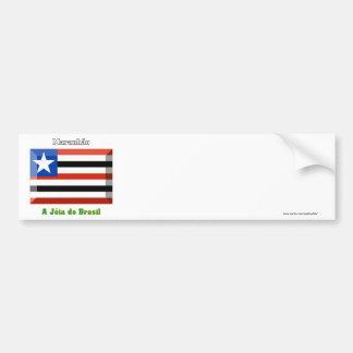 Maranhão Flag Gem Bumper Sticker