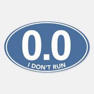 Marathon 0.0 I Don't Run Oval Sticker (Blue)