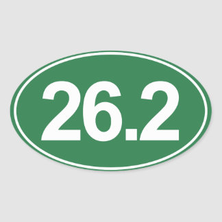 Marathon 26.2 Miles Oval Sticker (Green)