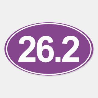 Marathon 26.2 Miles Oval Sticker (Purple)