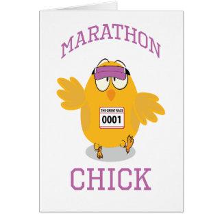 Marathon Chick Note Card