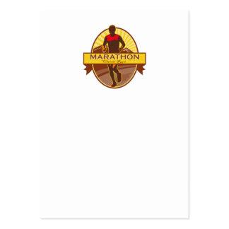 Marathon Classic Run Retro Business Card Templates