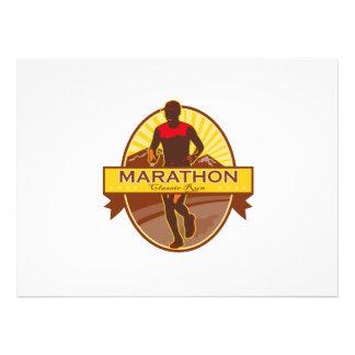 Marathon Classic Run Retro Custom Invitations