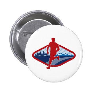 Marathon cross country road runner jogger fitness 6 cm round badge