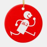 marathon Double-Sided ceramic round christmas ornament