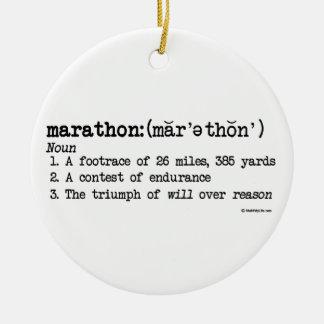 Marathon Definition Christmas Ornament