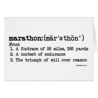 Marathon Definition Good Luck Greeting Card