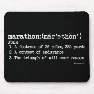 Marathon Definition Mouse Mat