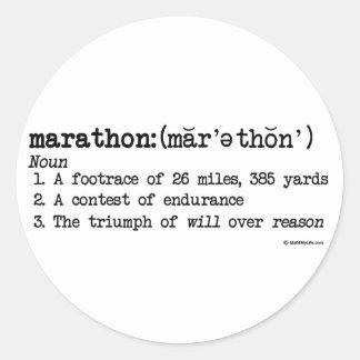 Marathon Defnition Classic Round Sticker