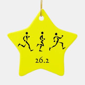Marathon Inspiration Ceramic Star Decoration