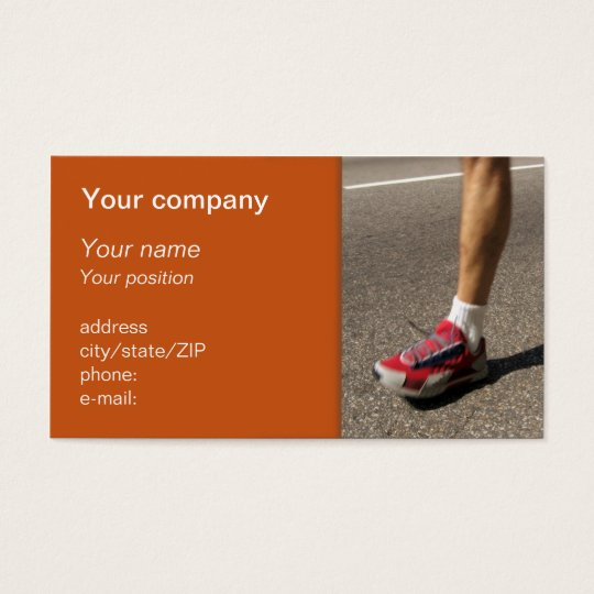 """Marathon man"" business card"