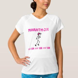 marathon pink tee 1 side print on white