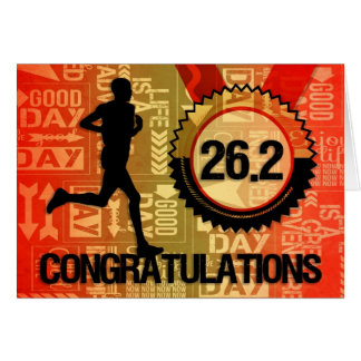 Marathon Race Runner Congratulations Sports Theme Greeting Card