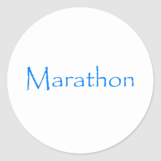 Marathon Round Sticker