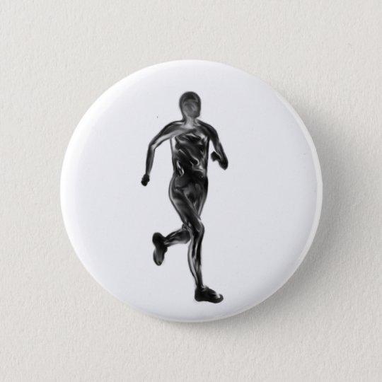 Marathon Runner 6 Cm Round Badge