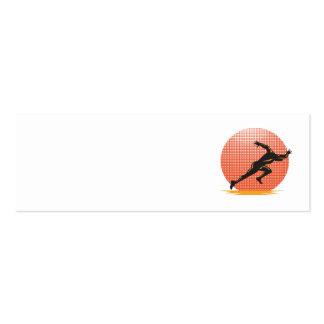 Marathon Runner Athlete Running Finish Line Business Card