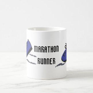 Marathon Runner - Blue Running Shoes Basic White Mug