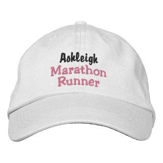 Marathon Runner Custom Name Embroidered Baseball Caps