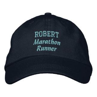 Marathon Runner Custom Name V11 Embroidered Baseball Cap