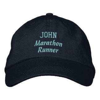 Marathon Runner Custom Name V12 Embroidered Baseball Cap