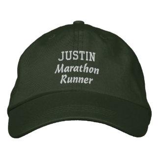 Marathon Runner Custom Name V14 Baseball Cap
