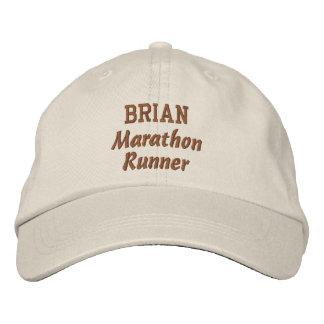 Marathon Runner Custom Name V17 Baseball Cap
