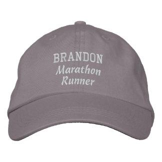 Marathon Runner Custom Name V18 Embroidered Baseball Caps