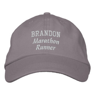 Marathon Runner Custom Name V18 Embroidered Hat
