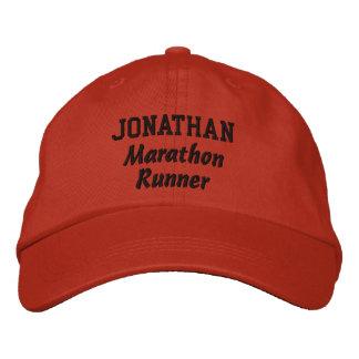 Marathon Runner Custom Name V19 Embroidered Hats