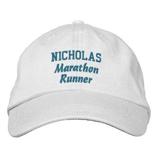 Marathon Runner Custom Name V20 Embroidered Baseball Caps