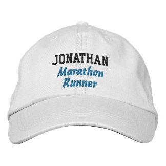 Marathon Runner Custom Name V2 Embroidered Hat