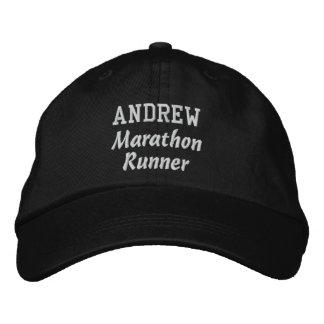 Marathon Runner Custom Name V3 Embroidered Hat