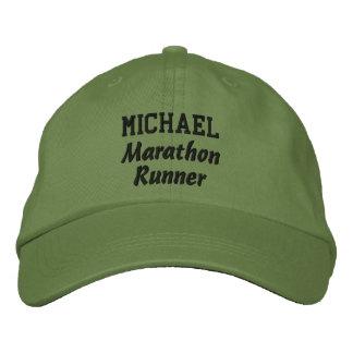 Marathon Runner Custom Name V4 Embroidered Hats