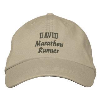Marathon Runner Custom Name V8 Embroidered Baseball Cap