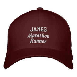 Marathon Runner Custom Name V9 Baseball Cap